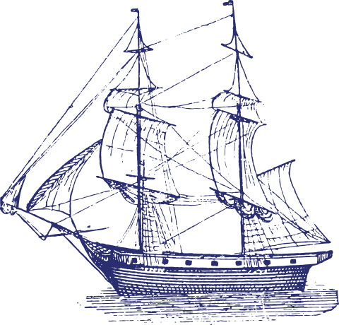Bluewater sailing ship