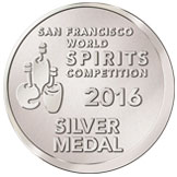San Francisco World Spirits Competition 2016 Silver Medal
