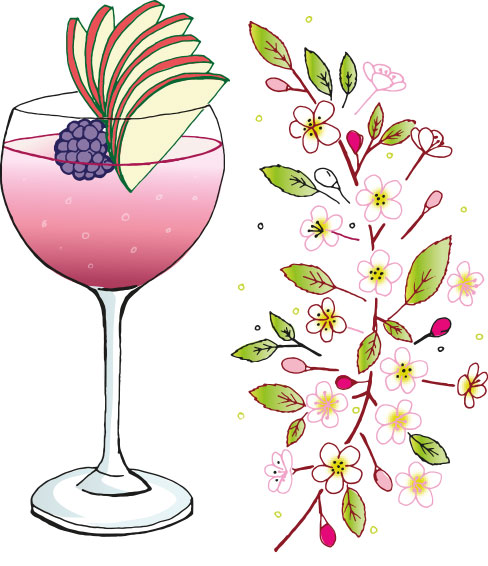 Chilgrove Bramble Gin Cocktail - Bramble G & T